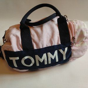Tommy Hilfiger Mini Duffel Bag Tote Carry All PINK